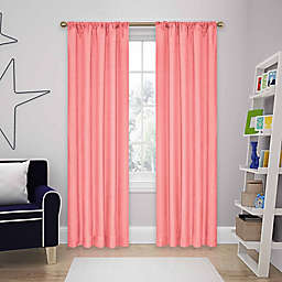 Eclipse Kendall  95-Inch Rod Pocket Room Darkening Window Curtain Panel in Coral (Single)