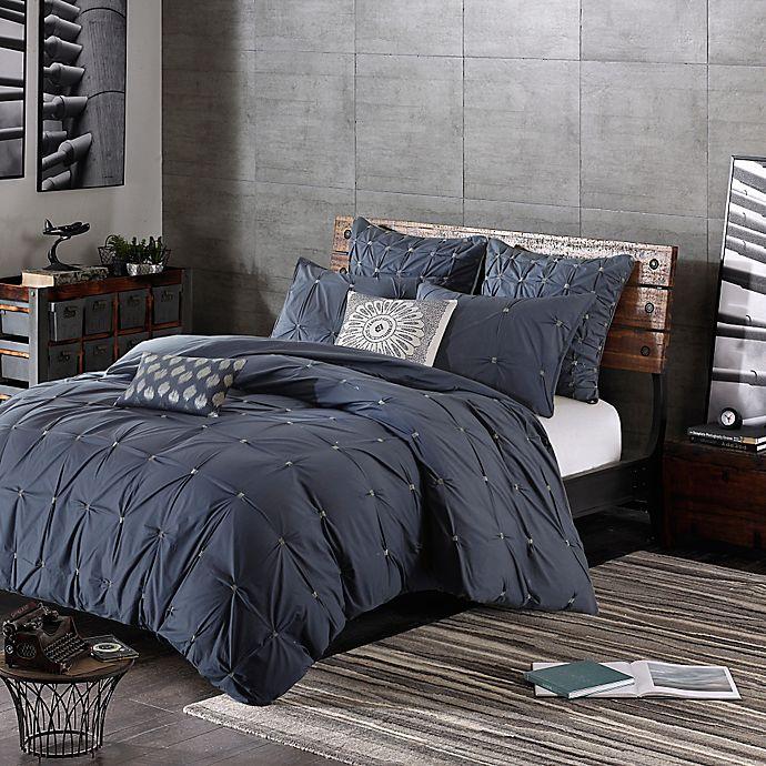 Alternate image 1 for INK+IVY Masie King/California King Comforter Set in Navy
