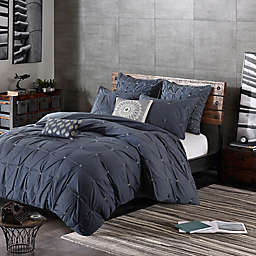 INK+IVY Masie 3-Piece King/California King Duvet Cover Set in Navy