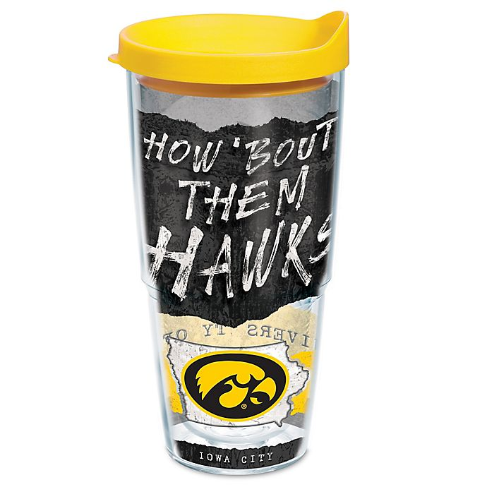 Alternate image 1 for Tervis® University of Iowa Hawkeyes  24 oz. Statement Wrap Tumbler with Lid