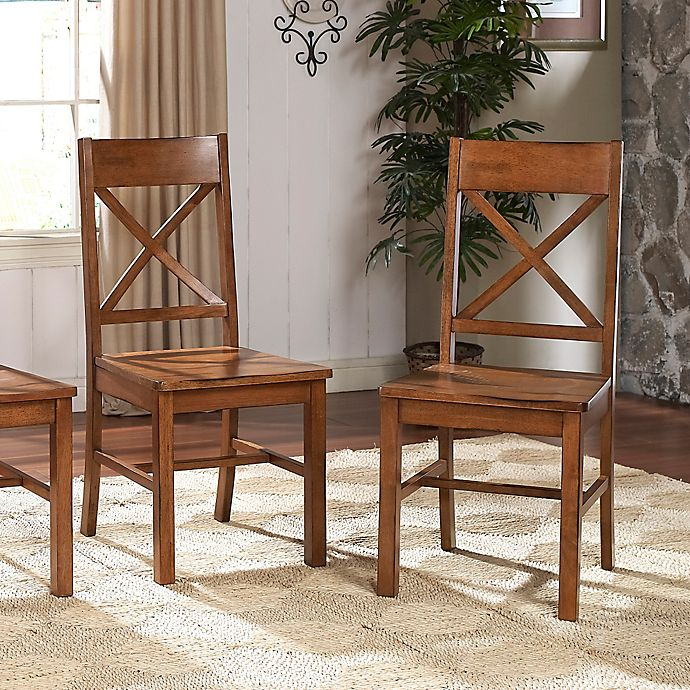 Alternate image 1 for Forest Gate Wheatridge Farmhouse Wood Dining Chairs (Set of 2)