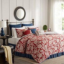 Madison Park Lucy Reversible 9-Piece Comforter Set in Red