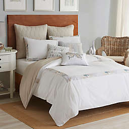 Shell Rummel Sea Glass Mosaic Reversible Comforter Set in White