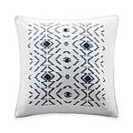 INK+IVY Cybil Square Throw Pillow in White
