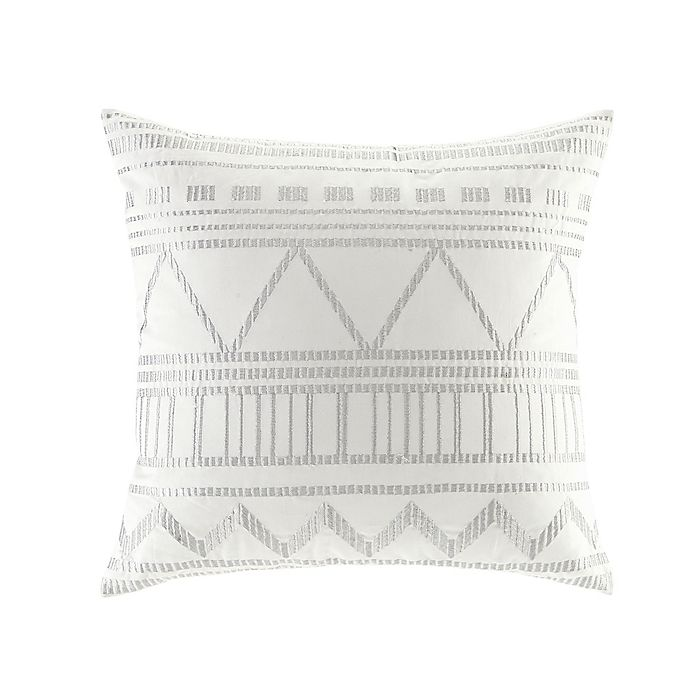 Alternate image 1 for INK+IVY Ava Square Throw Pillow in White