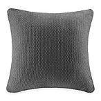INK+IVY Bree Knit Square Decorative Pillow Cover in Charcoal