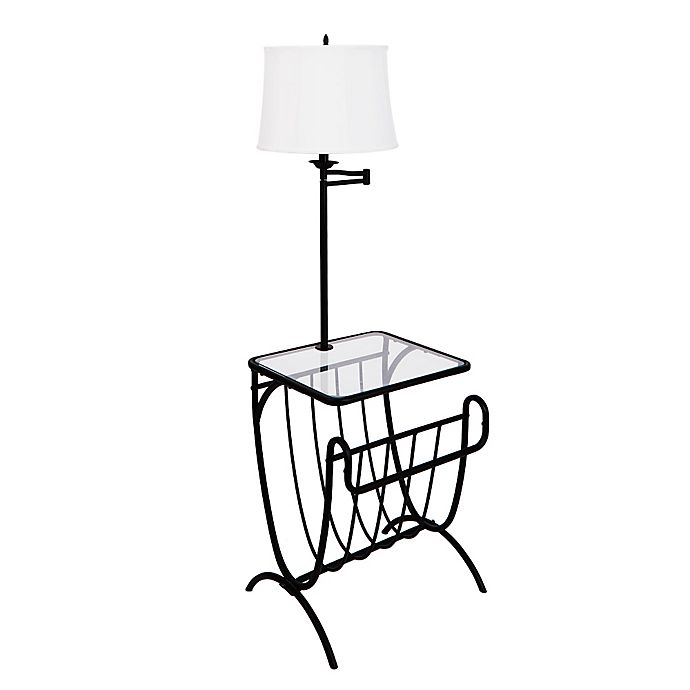 Magazine Rack Table Lamp In Black Bed Bath Beyond
