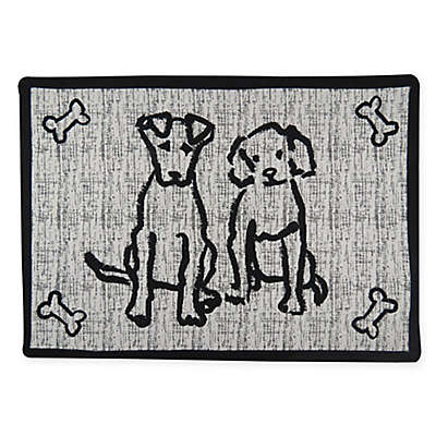 P.B. Paws & Co. 13-Inch x 19-Inch News Pals Pet Mat in Black