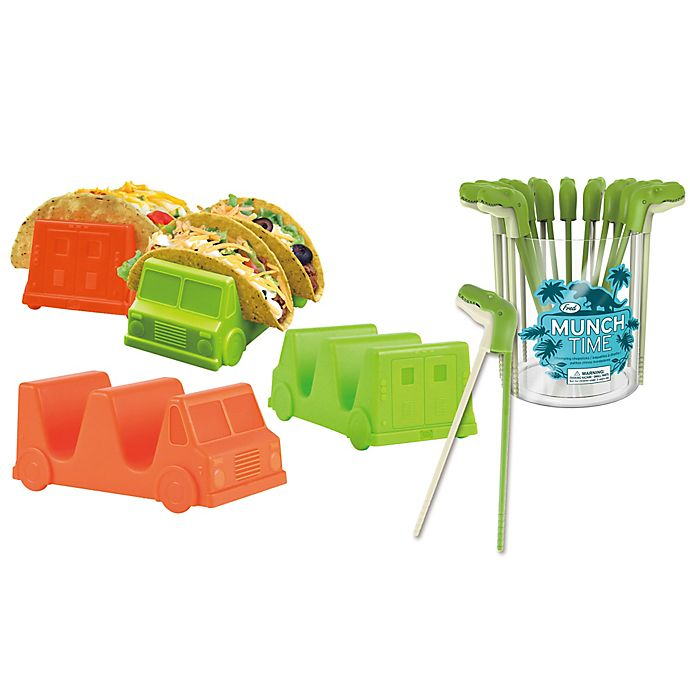 Alternate image 1 for Fred & Friends® Taco Truck™ Tray and Munchtime™ T-Rex Chomping Chopstick Food Bundle
