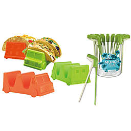 Fred & Friends® Taco Truck™ Tray and Munchtime™ T-Rex Chomping Chopstick Food Bundle