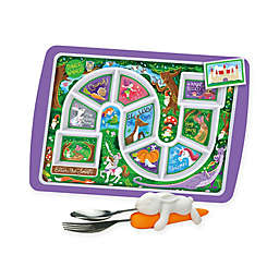 Fred & Friends® Enchanted Forest Dinner Winner Tray & Snack Rabbit Utensils Set