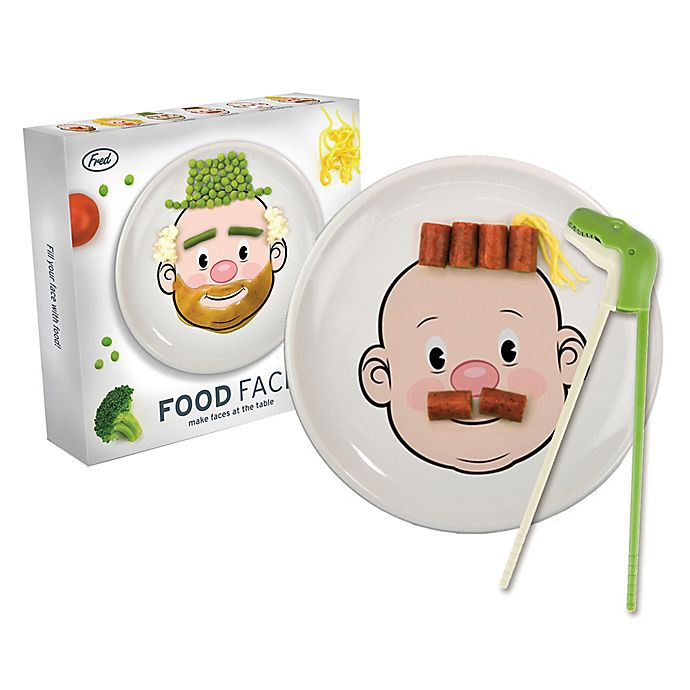 Alternate image 1 for Fred & Friends® Munchtime Food Face Boy with Chomping Chopsticks