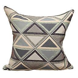 Triangle Park Denim 20-Inch Square Throw Pillow