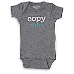 Sara Kety® Size 0-6M  Copy  Short Sleeve Bodysuit in Heather Grey