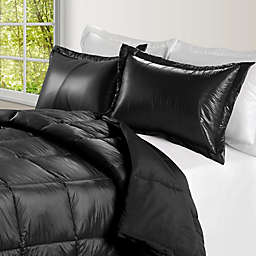 PUFF Down Alternative Ultra Light Indoor/Outdoor King Comforter in Black