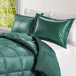 PUFF Down Alternative Ultra Light Indoor/Outdoor Full/Queen Comforter in Peacock