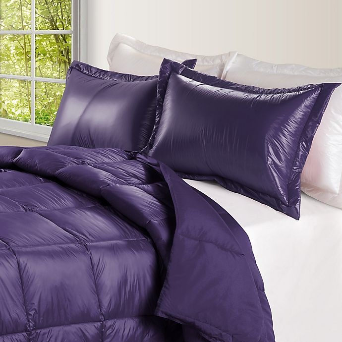 Alternate image 1 for PUFF Down Alternative Ultra Light Indoor/Outdoor King Comforter in Purple