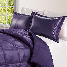 PUFF Down Alternative Ultra Light Indoor/Outdoor King Comforter in Purple