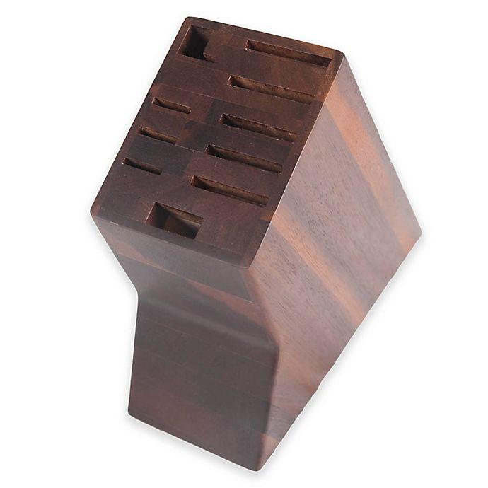 Alternate image 1 for Core Bamboo 10-Slot Acacia Wood Knife Block in Dark Brown