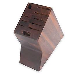 Core Bamboo 10-Slot Acacia Wood Knife Block in Dark Brown