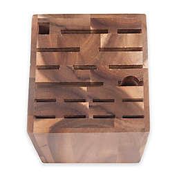 Core Bamboo 18-Slot Acacia Wood Knife Block in Natural