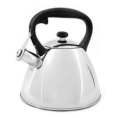 Prime Gourmet Polished Stainless Steel 2.5 qt. Tea Kettle