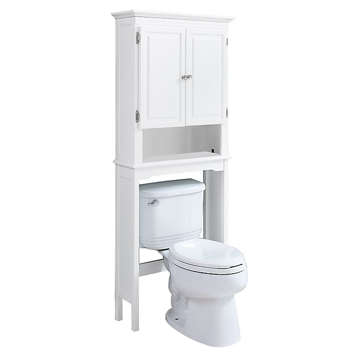 Wakefield no tools over the toilet space saver bed bath - Space saver furniture for bathroom ...