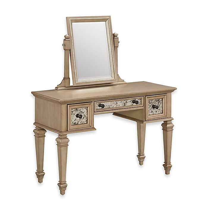 Alternate image 1 for Home Styles Visions Vanity in Silver/Gold Champagne