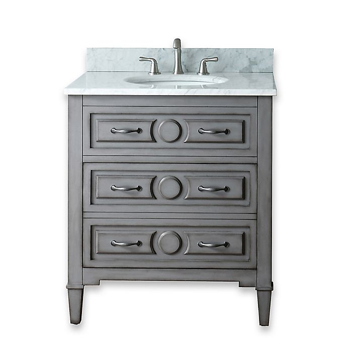 30 Inch Bathroom Vanity Combo In Grey Blue View A Larger Version Of This Product Image