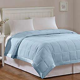 Madison Park Windom Microfiber King Blanket in Blue