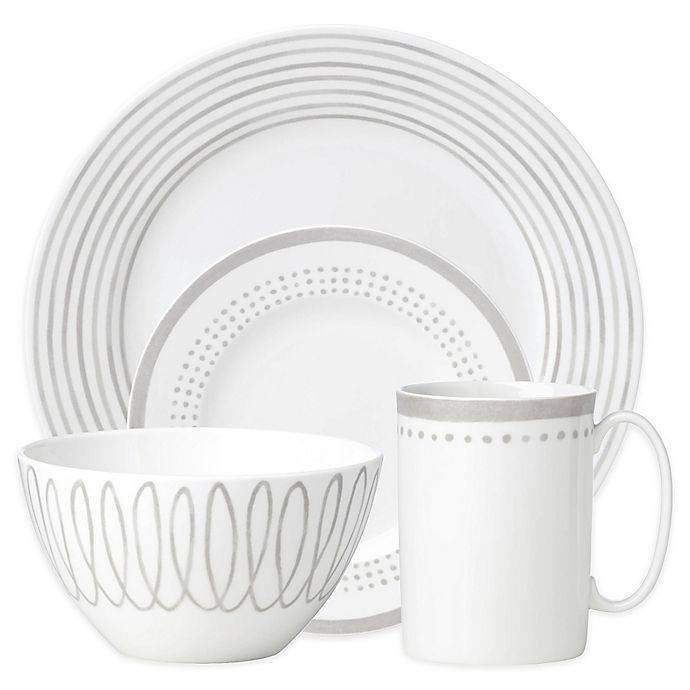 Alternate image 1 for kate spade new york Charlotte Street East Dinnerware Collection in Grey