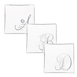 Classic Touch Whimsy Glitter Monogrammed Letter Accent Plates (Set of 2)