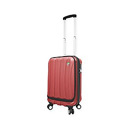 Mia Toro ITALY Tasca Fusion 20-Inch Hardside Spinner Carry On Luggage in Red