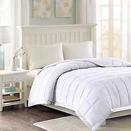 Madison Park Windom Microfiber Full/Queen Blanket in White