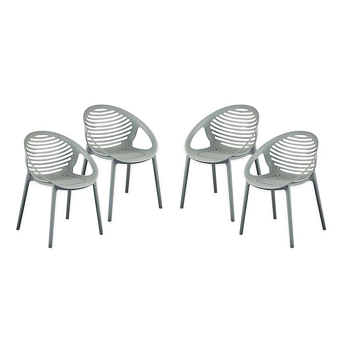 Alternate image 1 for Eurostyle™ Lima Stacking Arm Chairs (Set of 4)