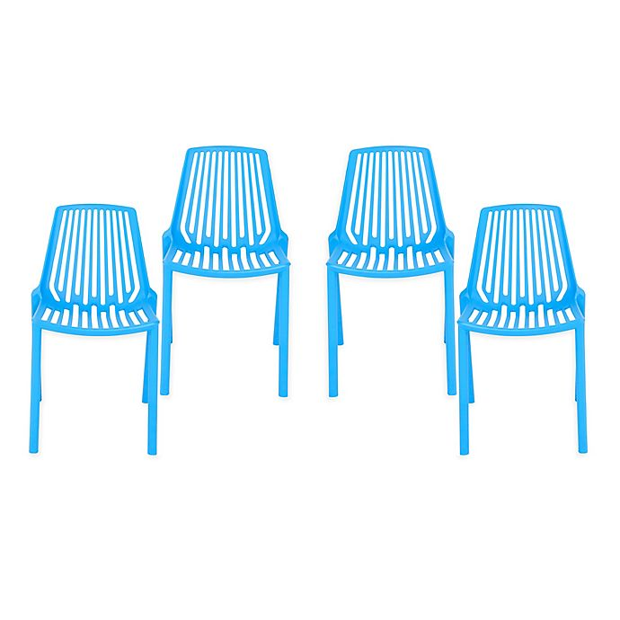 Alternate image 1 for Eurostyle™ Oasis Stacking Chairs (Set of 4)
