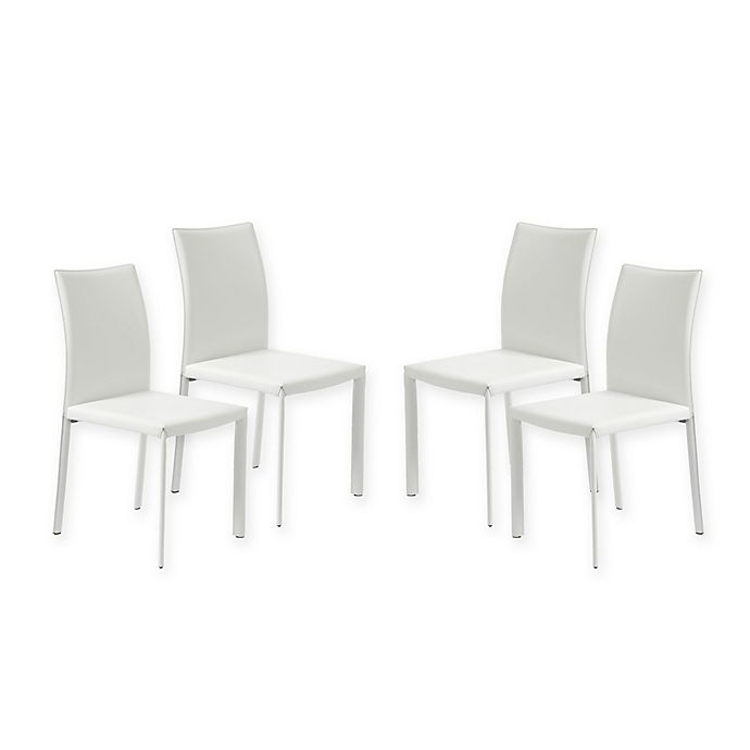 Alternate image 1 for Eurostyle™ Molly Dining Chairs in White (Set of 4)