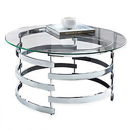 Steve Silver Co. Tayside Cocktail Table in Chrome
