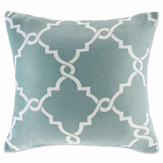 Alternate image 1 for Madison Park Saratoga 20-Inch Square Decorative Pillow in Seafoam