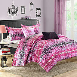 Chic Home Waffle Comforter Set in Pink