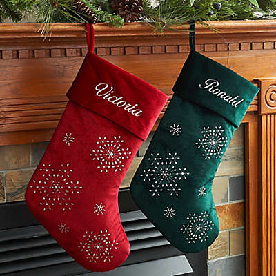 Velvet Snowflake 20-Inch Christmas Stockings Collection