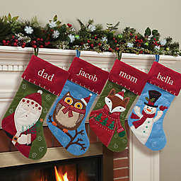 Appliqued 20-Inch Christmas Stocking Collection