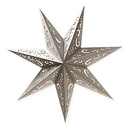 Lumabase 7-Point Star Paper Lanterns in Silver (Set of 3)