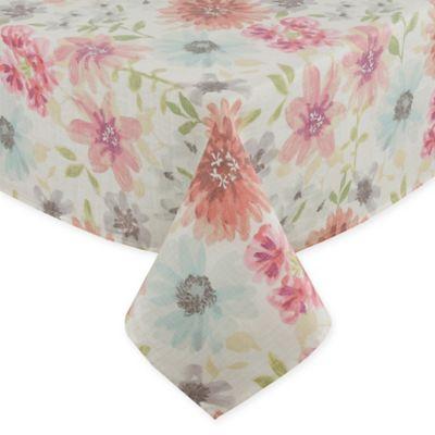 Colette Floral Tablecloth In Pastel Bed Bath Amp Beyond