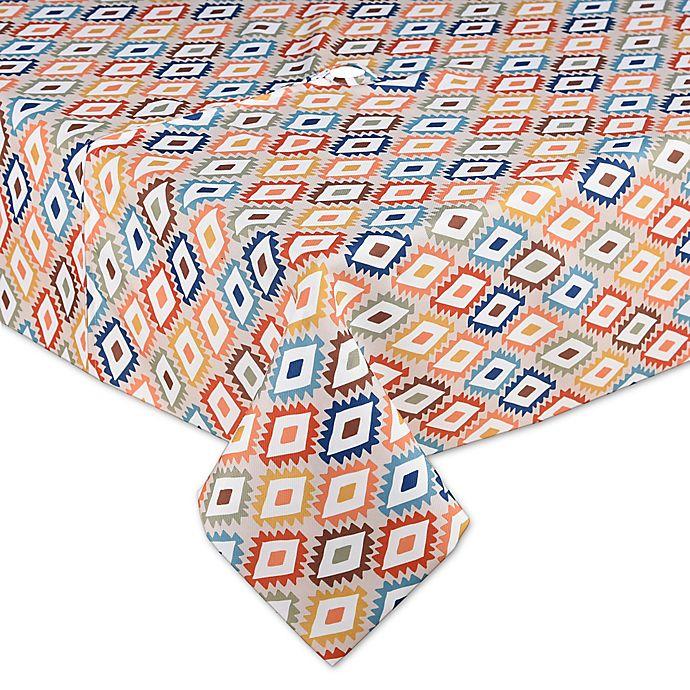 Alternate image 1 for Mesa Diamond 60-Inch x 84-Inch Indoor/Outdoor Umbrella Tablecloth