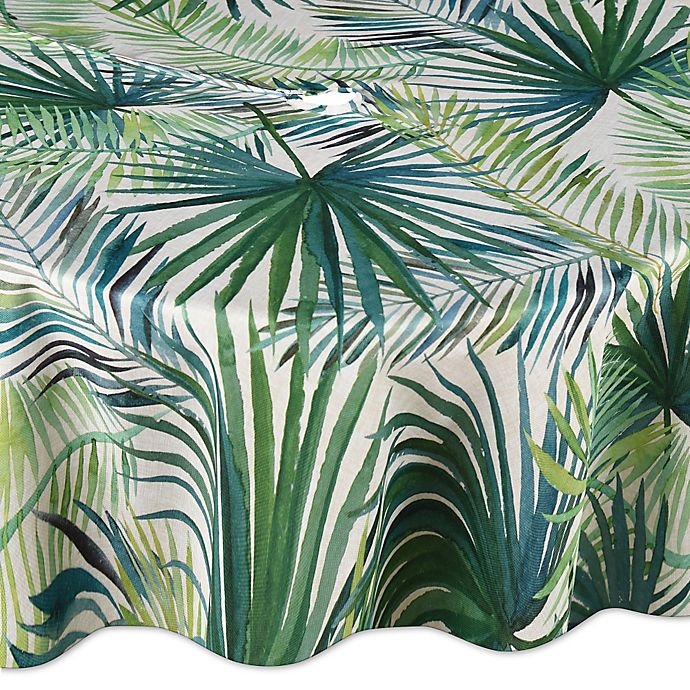 Alternate image 1 for Shades of Palm 70-Inch Round Umbrella Tablecloth