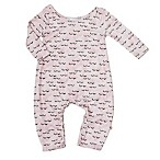 Pickles N' Roses™ Size 0-6M Sleepy Eye Long Sleeve Knit Coverall
