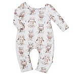Pickles N' Roses™ Size 6-12M Owl Long Sleeve Knit Coverall