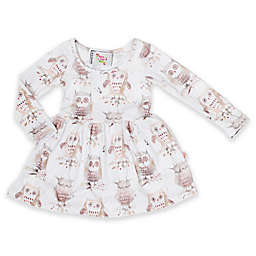 Pickles N' Roses™ Owl Long Sleeve Knit Day Dress