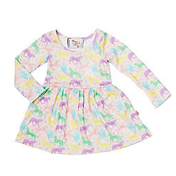 Pickles N' Roses™ Unicorn Long Sleeve Knit Day Dress